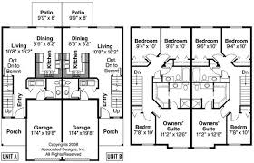 Duplex Designs Floor Plans   VAline Story Duplex House Plans