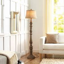 better homes and gardens rustic floor lamp distressed wood better homes and gardens lighting