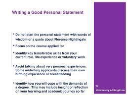Child nursing personal statement