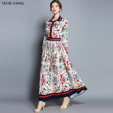 women <b>autumn</b> vintage party shirt long sleeve <b>maxi print office</b> work ...