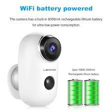 Lemnoi Rechargeable Battery Security <b>Camera Wifi</b>, <b>Wireless IP</b> ...