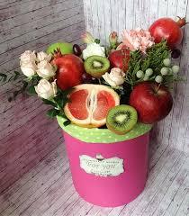 Купить Фрукты и цветы в коробке (Арт. <b>1101</b>) недорого в ...