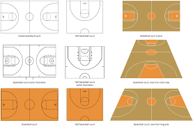 basketball court diagram and basketball positionsdesign elements   basketball courts