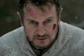 Liam Neeson plays Ottway, a wolf hunter working for a petroleum company in Alaska. It's Ottway's job to eliminate these vicious man-eaters in order to ... - Liam-Neeson-the-grey-1