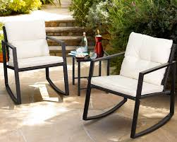 Walnew <b>3 Pieces</b> Patio Furniture Set Rocking Wicker Bistro Sets ...