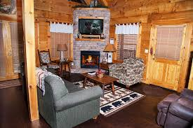 warm log cabin living rooms