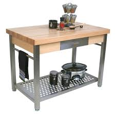 table for kitchen: boos cucina grande prep station optional pot rack amp leaf