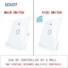 <b>WiFi RF433 Transmitter Wall</b> Panel Smart Glass Panel Touch Switch ...