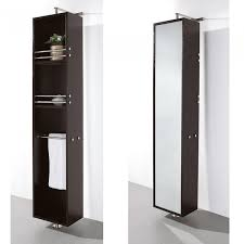 bathroom rotating espresso bathroom cabinet with 3 open shelves and mirror in the back side bathroom bathroom wall storage cabinet