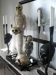 halloween gallery wall decor hallowen walljpg halloween mantel decorating ideas middot sparkly skulls and tall candelabras could give any arrangement a glamorous vibe