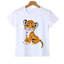 3d T <b>Shirt</b> crewneck print t <b>shirt</b> Teen girls boys clothing Tiger ...