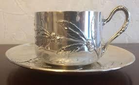 Murat, Charles 1894 Paris <b>Tea cup</b> and saucer in <b>sterling silver</b> ...