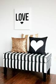 bench with pillows accessoriespretty black white silver bedroom ideas