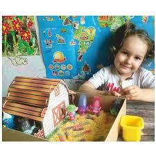 Сборная цветная деревянная модель Ферма, <b>wooden toys</b> ...