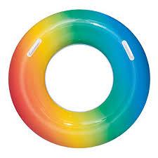 <b>Круг</b> надувной 91 см для <b>плавания</b> с ручками <b>Bestway</b> Радуга ...