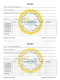 tuition fee receipt template in word format
