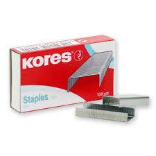 <b>Скобы для степлера N24/6</b> KORES 43101, никелированные 1000 ...