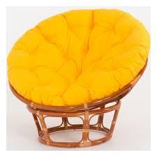 <b>Кресло VINOTTI Papasan 23/01</b> Цвет: Коньяк Желтая подушка ...