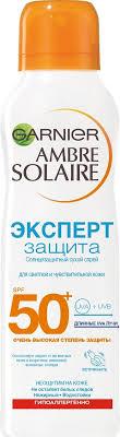 "<b>Garnier</b> Солнцезащитный cухой cпрей ""<b>Ambre Solaire</b>, <b>Эксперт</b> ..."