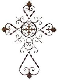 iron wall cross love: parigi wall cross traditional ornate perigee dimensional wall cross in wrought iron material