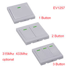 <b>Wall Panel Wireless Remote</b> Transmitter Control 1CH 2CH 3CH ...