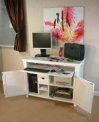 hampton hidden home office solid ash white desk 0 post baumhaus hampton hidden home office desk