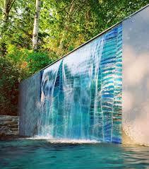 designs outdoor wall art: outdoor glass wall art glass wall waterfall