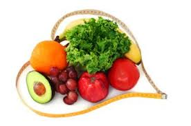 adopt a healthy lifestyle your heart will love you for it  fruit and veg surrounded by a tape measure in the shape of a heart