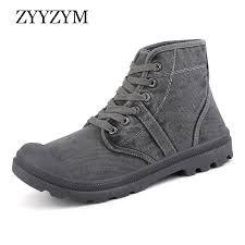 <b>ZYYZYM Men</b> High Canvas <b>Shoes</b> Spring Autumn Lace up Style ...