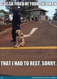Tired Dog by anna_alanka - Meme Center via Relatably.com