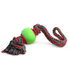 <b>Игрушка для собак Triol</b> Веревка с мячом D65 450 мм купить по ...