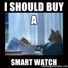 i should buy a smart watch - i should buy a boat cat | Meme Generator via Relatably.com