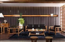 stylish modern bamboo living room leather sofa sets 1 bamboo modern furniture