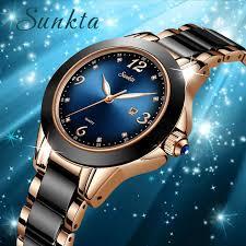 <b>SUNKTA Fashion Women Watches</b> Rose Gold Ladies Bracelet ...