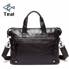 Men's Briefcase Genuine <b>Leather</b> Business Vintage <b>High Quality</b> ...