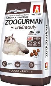 Купить <b>Зоогурман Hair</b> & Beauty <b>сухой корм</b> для кошек, Птица со ...