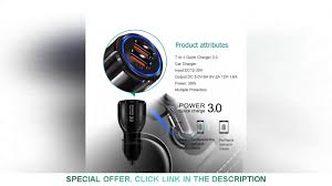 +75% Off <b>OLAF</b> 30W QC4.0 3.0 <b>Fast</b> USB <b>Car Charger</b> 2 USB Ports ...