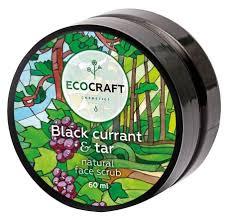 <b>EcoCraft скраб для</b> лица Black currant &amp; tar