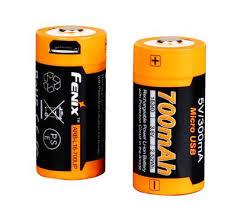 <b>Аккумулятор 16340 Fenix</b> «<b>700</b> UP mAh Li-ion» разъемом для ...