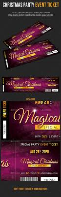 christmas party event ticket 02 event ticket event ticket christmas party event ticket template psd design graphicriver