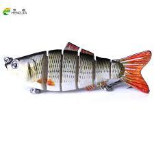 <b>HENGJIA Fishing Wobblers Lifelike</b> Fishing Lure 6 Segment ...