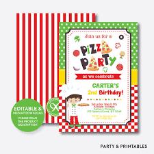 pizza boy kids birthday invitation editable instant pizza boy kids birthday invitation editable instant skb 19