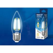 Светодиодная <b>лампочка Uniel LED</b>-C35-9W AIR DIMMABLE UL ...