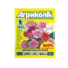 <b>Удобрение для цветущих</b> растений Агрикола, 25 г - купите по ...