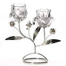 """<b>Подсвечник</b> декор. для 2-х свечей """"<b>Белый цветок</b>"""" 19*9*21см ..."""