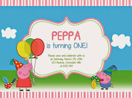 birthday party invitation online cards hd peppa pig birthday party invitations