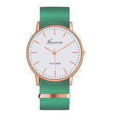 <b>Exquisite simple</b> Nylon strap women <b>watches luxury</b> fashion quartz ...