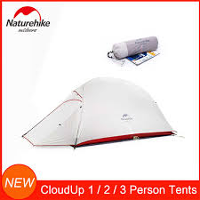 naturehike 20d silicone nylon ultralight tent single person vik series layer camping outdoor aluminum pole tents