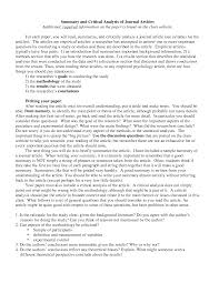article review thesis example