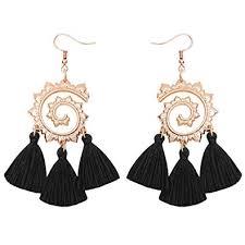 Gleamart Tassel <b>Bohemian</b> Earrings Fringe Bohemia <b>Handmade</b> ...